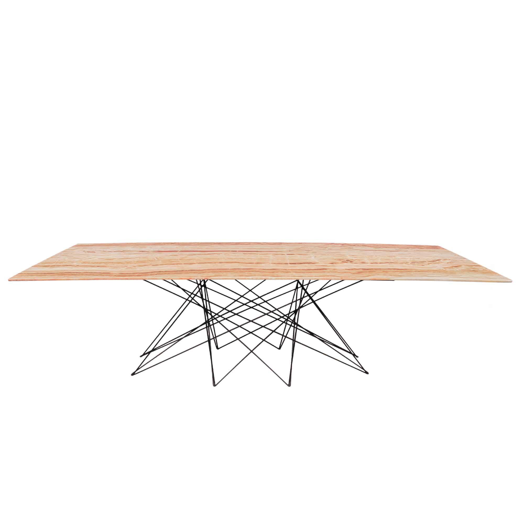 Decasa Rectangular Marble Dining Table Dilgeno Onyx